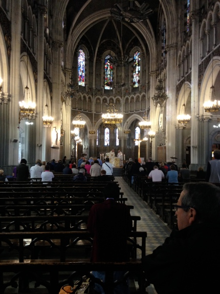 Inside the upper Basilica.